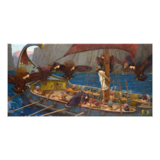 Ulysses and the Sirens by John William Waterhouse Personalized Photo Card