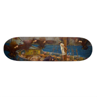 Ulysses and the Sirens by John William Waterhouse Skateboard Deck