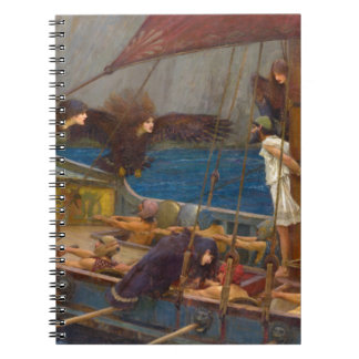 Ulysses and the Sirens by John William Waterhouse Spiral Notebook