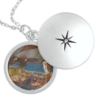 Ulysses and the Sirens by John William Waterhouse Sterling Silver Necklace