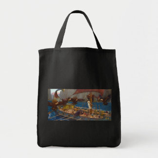Ulysses and the Sirens by John William Waterhouse Tote Bag