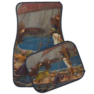 Ulysses and the Sirens by John William Waterhouse Car Mat