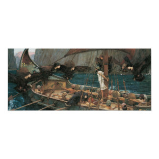 Ulysses and the Sirens by JW Waterhouse Card