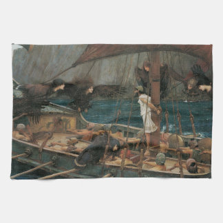 Ulysses and the Sirens by JW Waterhouse Hand Towel