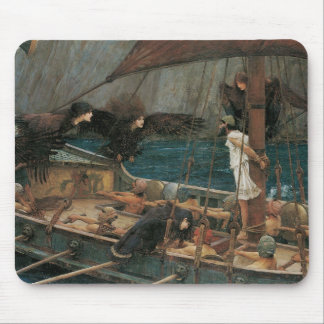 Ulysses and the Sirens by JW Waterhouse Mouse Pad