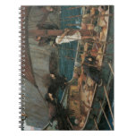 Ulysses and the Sirens by JW Waterhouse Spiral Note Book