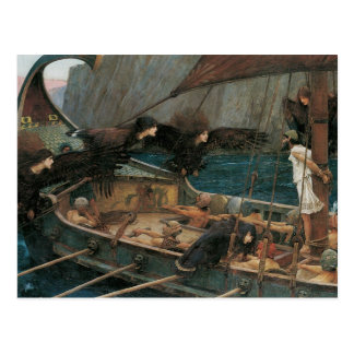 Ulysses and the Sirens by JW Waterhouse Post Card