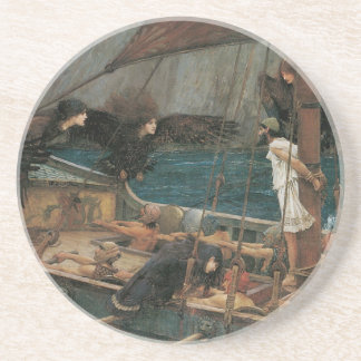 Ulysses and the Sirens by JW Waterhouse Sandstone Coaster