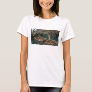 Ulysses and the Sirens by JW Waterhouse T-Shirt