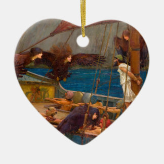 Ulysses and the Sirens Ceramic Ornament