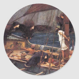 Ulysses and the Sirens Classic Round Sticker