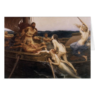 Ulysses and the Sirens Greeting Card