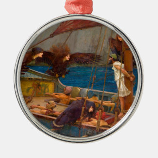 Ulysses and the Sirens Metal Ornament