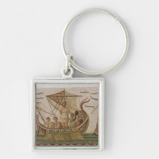 Ulysses and the Sirens Silver-Colored Square Keychain