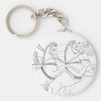 Ulysses Basic Round Button Keychain