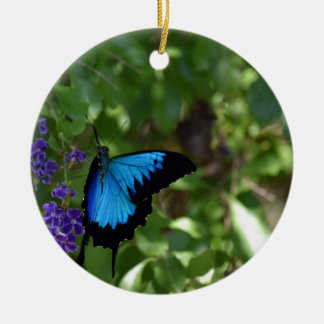 ULYSSES BLUE BUTTERFLY QUEENSLAND AUSTRALIA CERAMIC ORNAMENT