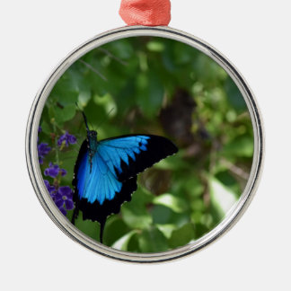 ULYSSES BLUE BUTTERFLY QUEENSLAND AUSTRALIA METAL ORNAMENT