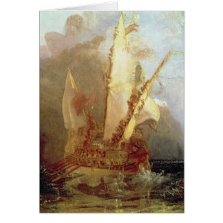 Ulysses Deriding Polyphemus, detail of ship Greeting Card