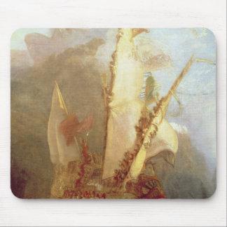 Ulysses Deriding Polyphemus, detail of ship Mousepads