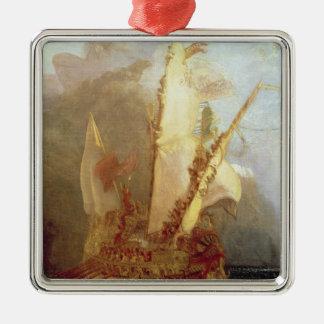 Ulysses Deriding Polyphemus, detail of ship Christmas Tree Ornaments
