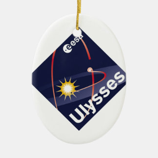 Ulysses Double-Sided Oval Ceramic Christmas Ornament