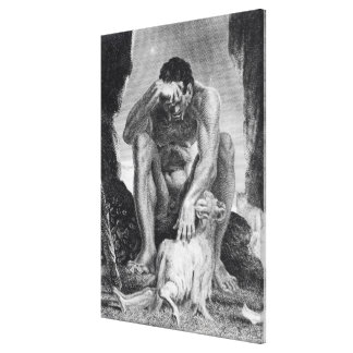 Ulysses Escaping from Polyphemus the Cyclops Canvas Print