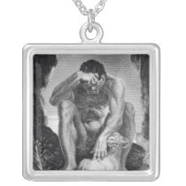 Ulysses Escaping from Polyphemus the Cyclops Silver Plated Necklace