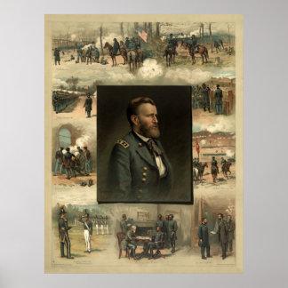 Ulysses Grant, 1885 Poster