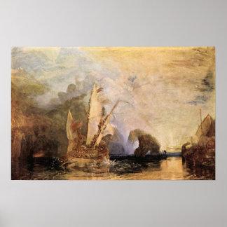 Ulysses in Homer's Odyssey - Joseph Mallord Turner Poster