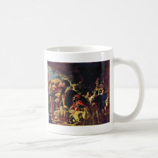 Ulysses In The Cave Of Polyphemus By Jordaens Jaco Classic White Coffee Mug