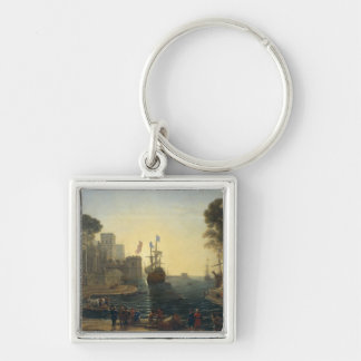 Ulysses Returning Chryseis to her Father Silver-Colored Square Keychain