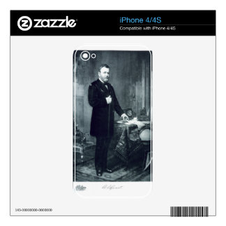 Ulysses S. Grant, 18th President of the United Sta Decal For The iPhone 4