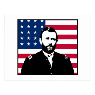 Ulysses S. Grant and the American Flag Post Card