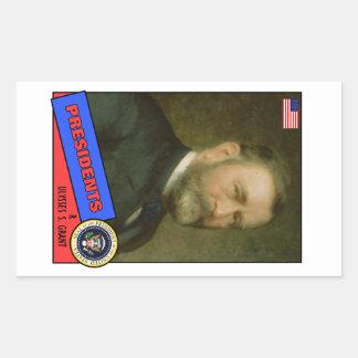 Ulysses S. Grant Baseball Card Rectangular Sticker
