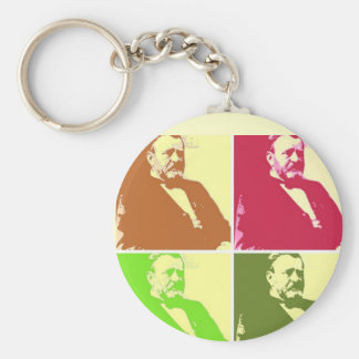 Ulysses S Grant Basic Round Button Keychain