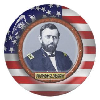 Ulysses S. Grant Civil War Melamine Plate