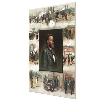 Ulysses S. Grant from West Point to Appomattox Stretched Canvas Print