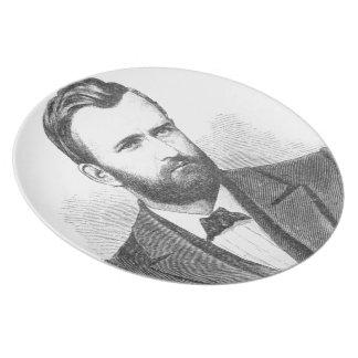 Ulysses S. Grant Illustrative Portrait Dinner Plate