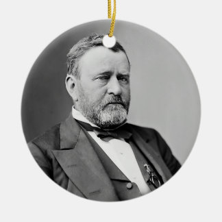 Ulysses S. Grant Double-Sided Ceramic Round Christmas Ornament