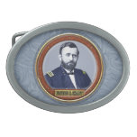 Ulysses S. Grant Oval Belt Buckle<br><div class='desc'>Ulysses S. Grant, born Hiram Ulysses Grant; April 27, 1822 to July 23, 1885, was the 18th President of the United States from 1869 to 1877, as well as military commander during the Civil War and post-war Reconstruction periods. Under Grant&#39;s command, the Union Army defeated the Confederate Military and ended...</div>