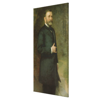 ULYSSES S. GRANT Portrait by Thomas Le Clear Print Stretched Canvas Prints