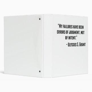 Ulysses S. Grant Quote Binder