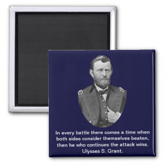 Ulysses S. Grant quotes. 2 Inch Square Magnet