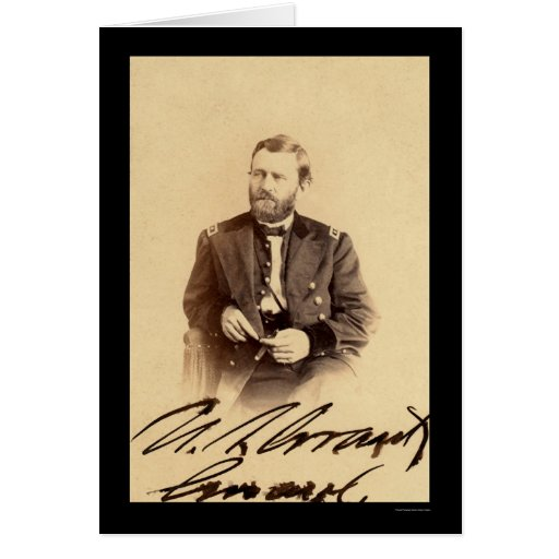 Ulysses S. Grant Signed Card 1862
