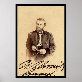Ulysses S. Grant Signed Card 1862 Print
