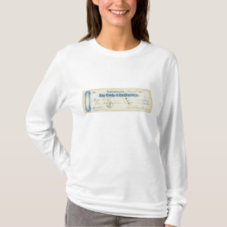 Ulysses S. Grant Signed Check from May 17th 1867 T-Shirt