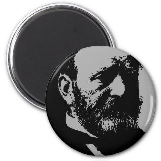 Ulysses S. Grant silhouette 2 Inch Round Magnet
