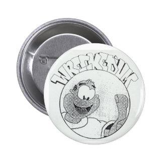 'Um botón arruinado del logotipo del círculo de Me Pin