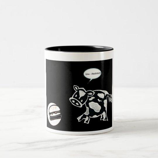 Um Daddy?! Two-Tone Coffee Mug