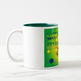 Um Irmão Magnifico Brazil Flag Colors Pop Art mug